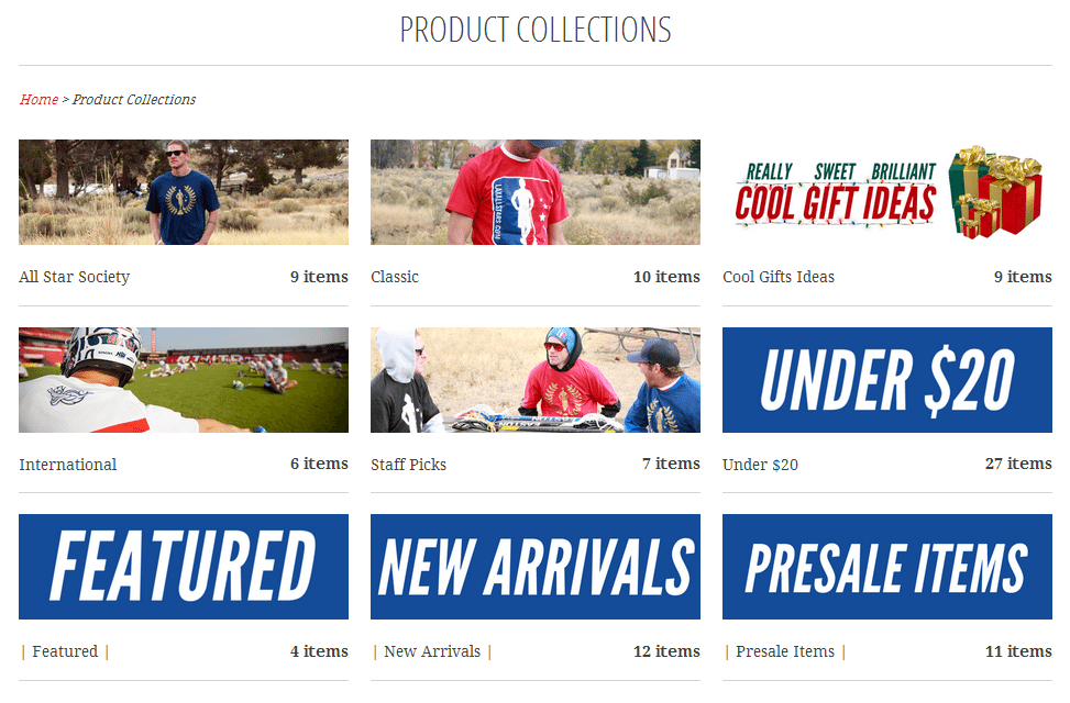 The Lacrosse Shop: Collections