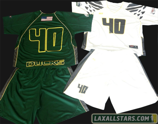 2012 OREGON DUCKS LACROSSE UNIFORMS