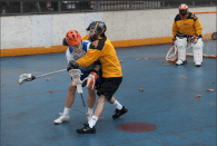 NYC Box Lacrosse Joe Williams and Tim Wojcik