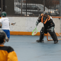 NYC Box Lacrosse - New Goalie making saves