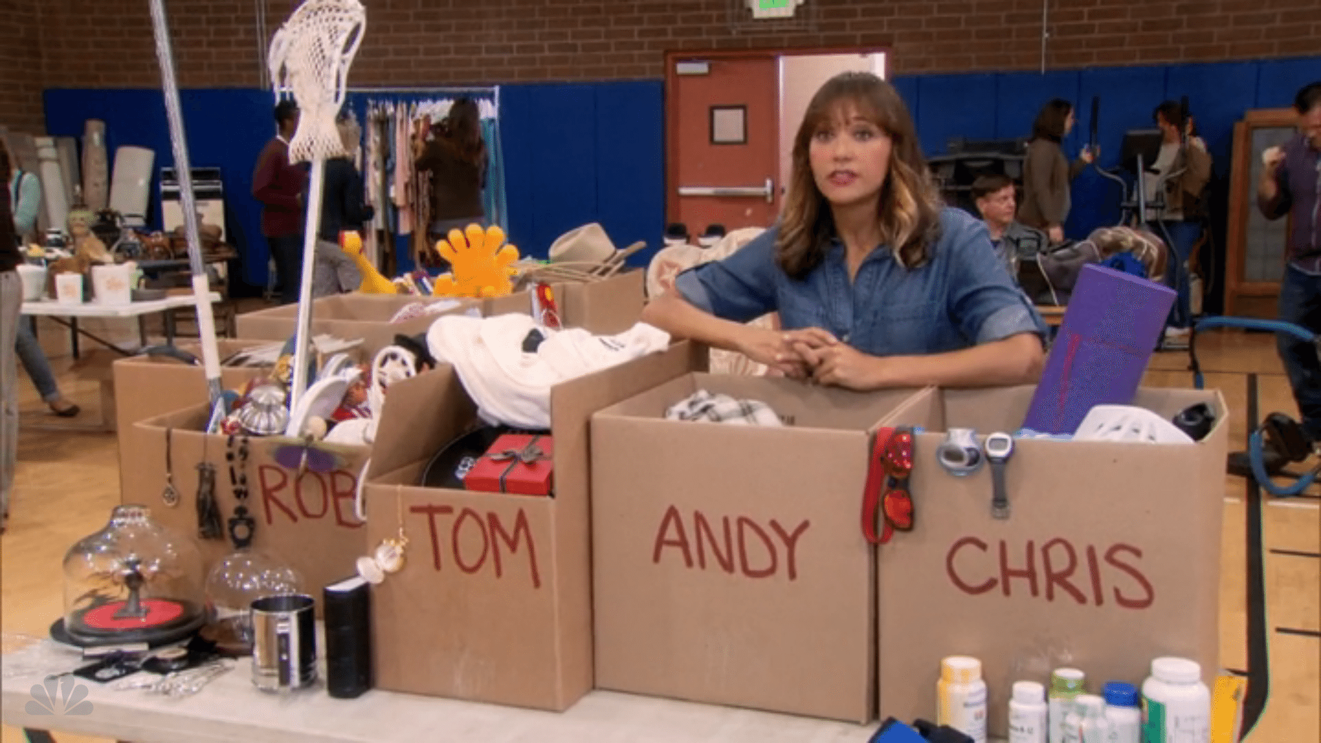 Lacrosse Stick on Parks and Recreation
