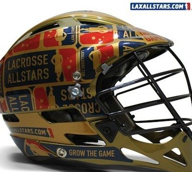 22k Gold HeadWrapz Lacrosse Helmet