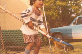 Powless in net at age 2.