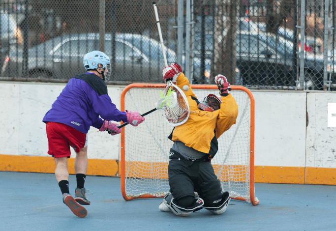 NYC Box Lacrosse - Whit Harrison Save - Photo Credit: Bill Schick