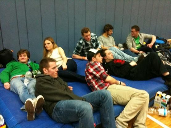 The Cologne Indians relaxing pre-game.