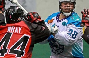 Rochester Knighthawks Cody Jamieson NLL Photo credit: Larry Palumbo