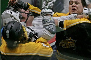 Fight Syracuse Stingers vs NYC Lax All Stars Box Photo credit: Larry Palumbo