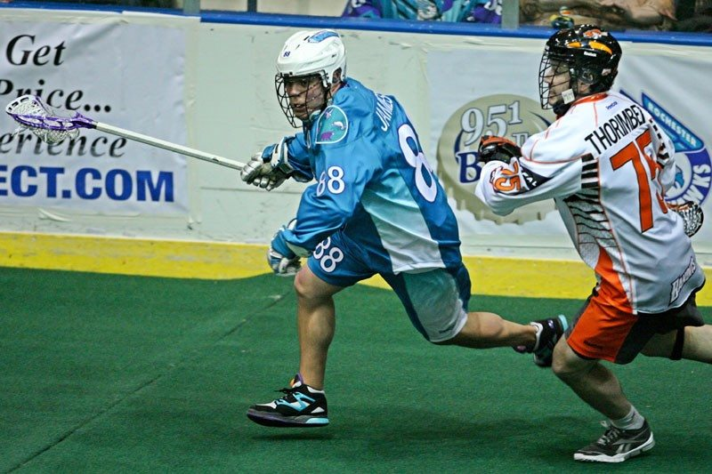 Rochester Knighthawks Buffalo Bandits NLL Cody Jamieson Photo:Larry Palumbo