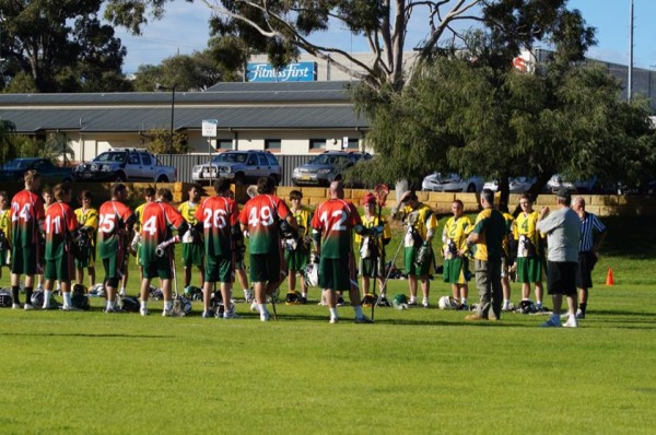 Liam's father addresses the teams prior to a D1 game.