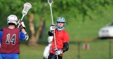 Steele grabs a pole.