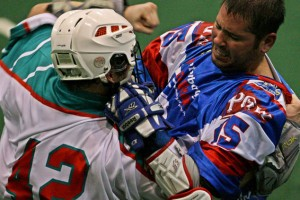 6 Nations Chiefs vs. peterborough lakers Box Lacrosse Photo credit: Larry Palumbo