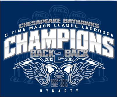 Chesapeake Bayhawks Dynasty Tee