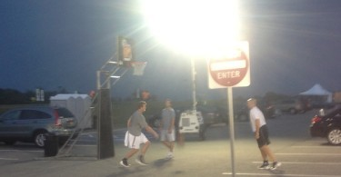 3v3 hoops tournament for the coaches recruiting at FLG in 3D