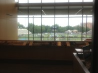 The view of Homewood from inside the Cordish.