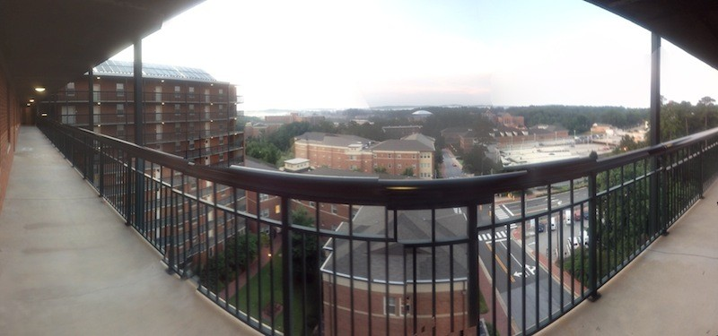 Panoramic view from the dorms at UNC.