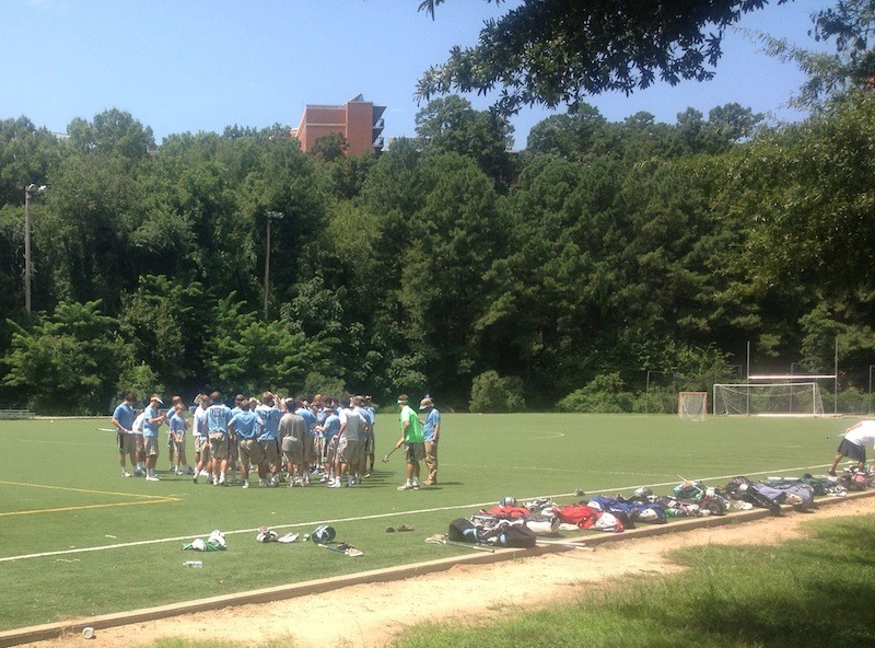 The woods field at UNC.