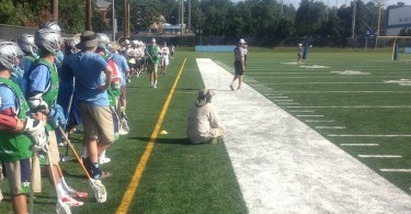 Coach Crimmins takes a quick mid game seat.