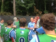 Coach Holman addresses our team after the tournament.