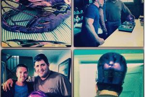 Tony Siragusa Chrome Lacrosse Helmet