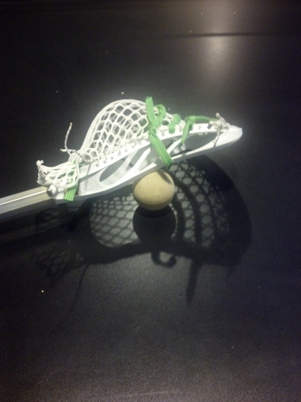 lacrosse stick and lacrosse ball