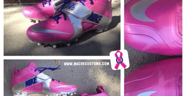 Breast Cancer Awareness Huarache Cleats