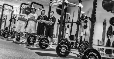 A lacrosse weight room? Yup.