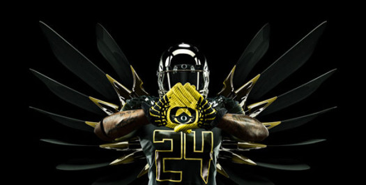 2014 NCAA College football Oregon Ducks gloves