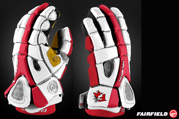 Fairfield Lacrosse Glove Mockup