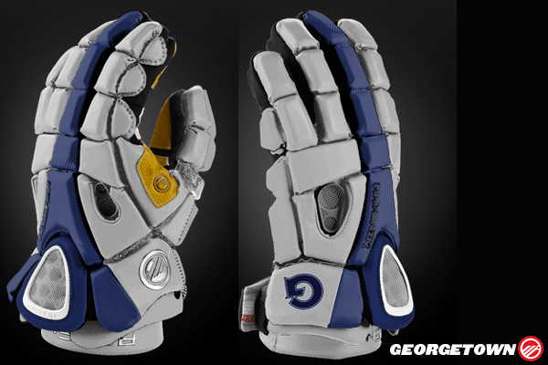 Georgetown Lacrosse Glove Mockup