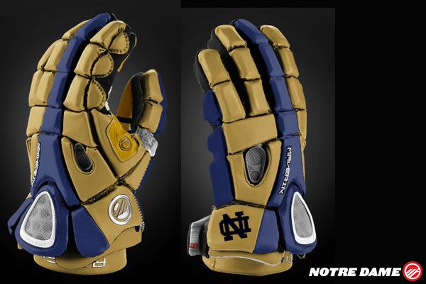 Notre Dame Lacrosse Glove Mockup