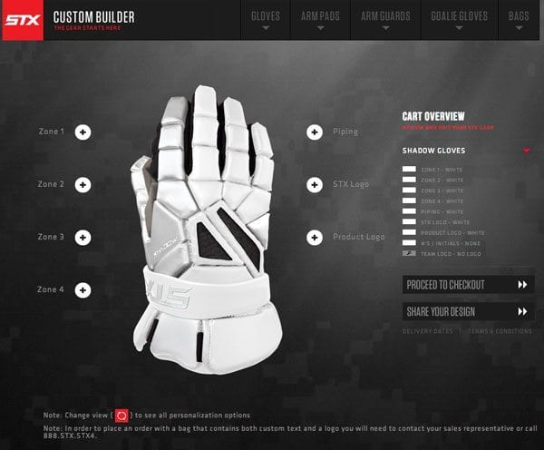STX Shadow Glove Customizer