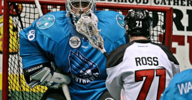 Rochester Knighthawks Philadelphia Wings NLL Matt Vinc Photo:Larry Palumbo