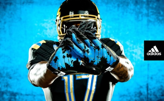 UCLA NCAA football gloves 2013