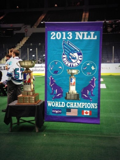 Rochester Knighthawks 2013 NLL Championship Banner