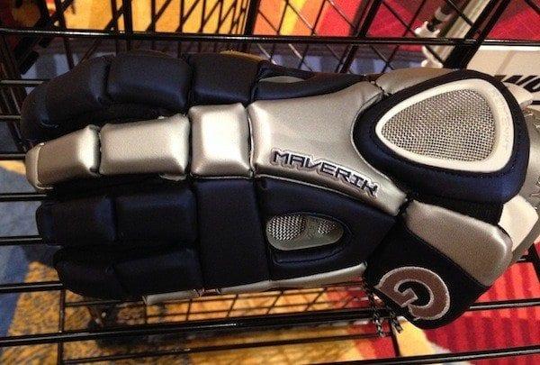 georgetown hoyas logo on rome glove by maverik lacrosse