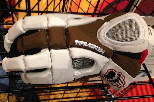 brown bears logo on rome glove by maverik lacrosse