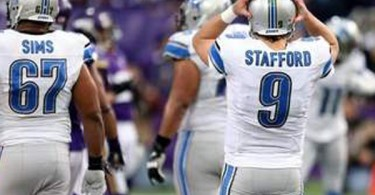 Detroit Lions QB Matt Stafford in Nike Huarache Lacrosse cleats