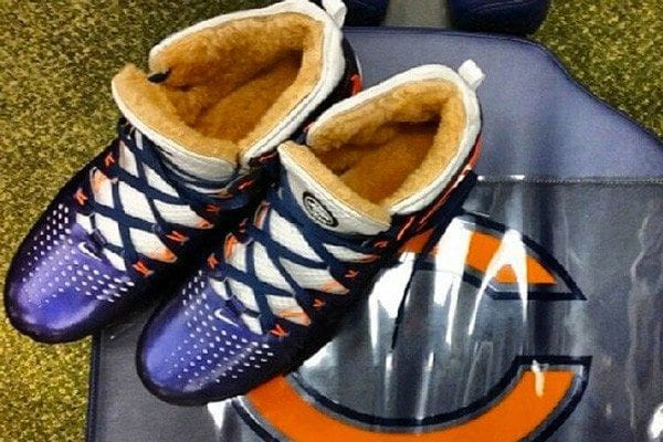 Chicago Bears Brandon Marshall in Nike Huarache Lacrosse Cleats