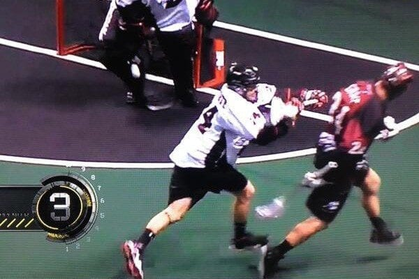 John Grant Jr. NLL Behind the Back One Handed Bounce Goal one hand goal