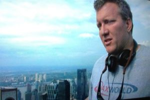 The Adjustment Bureau movie director George Nolfi wears Lax World shirt