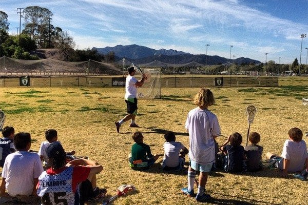 Peter Baum lacrosse shooting clinic at LXM PRO