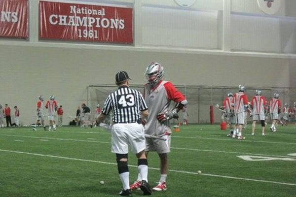 Lee Spitzer stick check ohio state lacrosse
