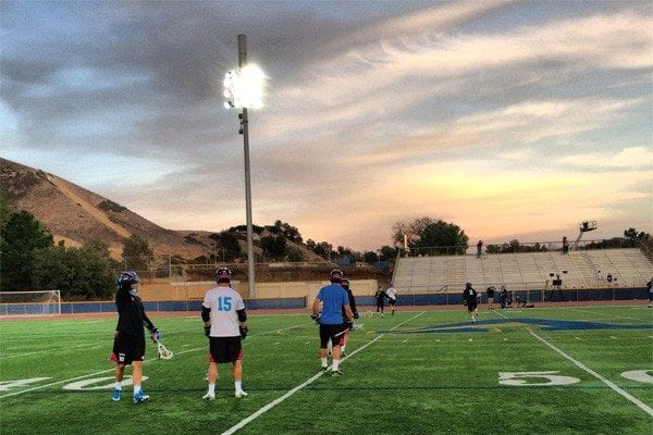 Peter Baum and Team STX warming up at LXM PRO Los Angeles