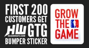 Free Grow The Game Bumper Sticker