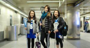 Humans of New York Lacrosse Girls on New York City Subway