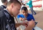 Israel autogrpah lacrosse