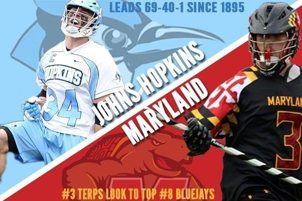 College lacrosse rivalry week Maryland-Hopkins