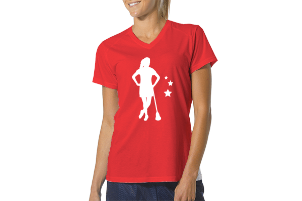 LAS Women's Identity Tee - Red