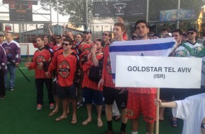 Team Goldstar Tel Aviv at Ales Hrebesky box lacrosse tournament