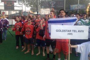 Team Goldstar Tel Aviv at Ales Hrebesky box lacrosse tournament LASNAI